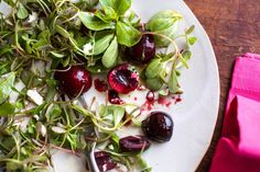 Purslane Salad With Cherries and Feta - NYTimes.com