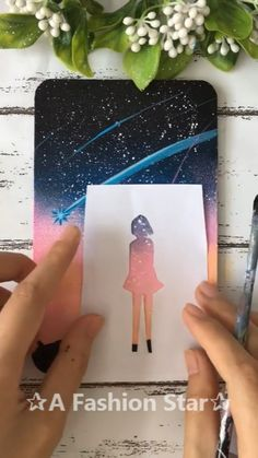 Easy Color Art✰A Fashion Star - Acrylic art - Crafts For Kids, Arts And Crafts, Art Diy, Acrylic Art, Simple Acrylic Paintings, Art Tutorials, Creative Art, Art Drawings, Drawing Drawing