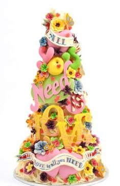 Cake Wrecks - Home - Sunday Sweets: Beatle Mania Wouldn't this be a great Groom's cake (with less pastel colors, of course) for a guy that's always been nuts about The Beatles? Are you out there B the Bro?