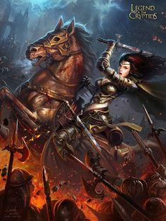 Legend of the Cryptids Picture illustration, fantasy, girl, woman… Fantasy Images, Fantasy Women, Dark Fantasy, Fantasy Art, Game Art, Image Digital, Digital Art Gallery, Fantasy Portraits, Fantasy Warrior