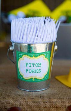 John Deere Inspired- spoons= shovels, forks=pitch forks - why did i never think of a John Deere inspired wedding?!