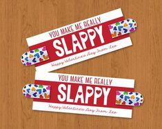 You Make Me Slappy- Slap Bracelet Valentine- You Make Me Really Slappy My Funny Valentine, Homemade Valentines Day Cards, Valentine Day Boxes, Valentines For Boys, Valentines Day Party, Valentine Gifts, Valentine Ideas, Valentine Decorations, Slap Bracelets