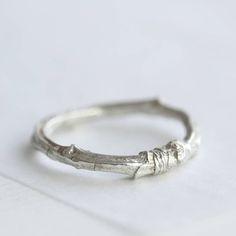 Handmade Silver Twig Ring