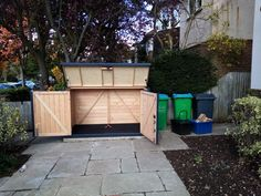 Bin Storage, Bicycle Storage, Bike Shed, Somerset, Outdoor Furniture, Outdoor Decor, Sheds, Storage Solutions, New Homes