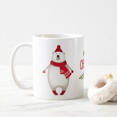 #Cute Merry Christmas Polar Bear Coffee Mug - #Xmas #ChristmasEve Christmas Eve #Christmas #merry #xmas #family #kids #gifts #holidays #Santa