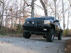 Lifted clack Chevie truck