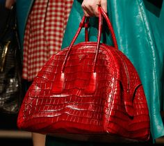 Prada Fall 2013 Handbag -- love the combination of red and turquoise!