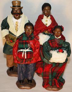 Black African American Carolers Christmas Village Display, Christmas Villages, Christmas Décor, Christmas Items, Black Christmas Decorations, African American Figurines, African Pottery, Black Like Me, Black Santa