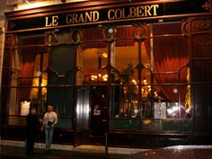 Known from the movie Something's Gotta Give, the West Bank's LeGrand Colbert is a true French Bistro. The decor is very early 1900′s with high ceilings, frosted glass panels, dark wood, brass,… and lots of old play bills from local theaters. www.legrandcolbert.fr