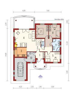 Rózia G1 ENERGO PLUS: Parter Floor Plans, Cottage, House Design, Architecture, Dreams, Arquitetura, Houses, Cottages, Cabin