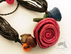 Bransoletka z różą ze skórki pomarańczy - PuraVida-Costarica - Bransoletki