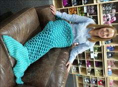 Yvonne has designed this amazing mermaid tail knitting pattern that will be so cosy to snuggle up in whilst reclining on the sofa!