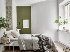Bright and cheerful Scandinavian apartment (Daily Dream Decor) Two Bedroom, Home Bedroom, Bedroom Decor, Bedroom Colors, Grey Wall Color, Wall Colors, Scandinavian Apartment, Living Room Grey, Dream Decor