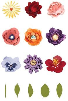 """These flowers really are large. Here are the largest size for each of the different flowers.  Daisy - 18.5""""  Lotus - 16""""  Rose - 15""""  Poppy - 18""""  Peony - 13""""  Ashley - 18""""  Pansy - 18""""  Zinnia- 18""""  Hibiscus - 16"""""""