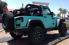 Pictures and description of a 2014 Jeep Rubicon Tiffany Blue. Lifted Ford Trucks, Jeep Truck, Jeep Jeep, Pickup Trucks, 2014 Jeep Rubicon, Jeep Rubicon 2 Door, Blue Jeep Wrangler, Jeep Wranglers, 2 Door Jeep