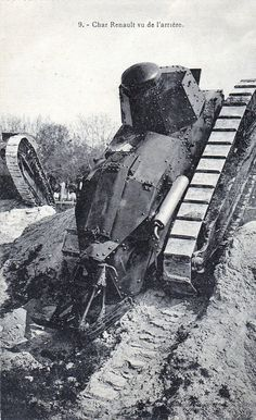 The Renault FT 17 was the only WWI tank being able to operate on messy terrain.
