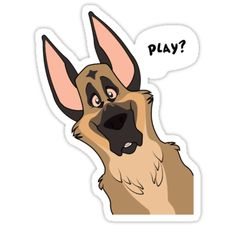 Grinning German Shepherd Dog | Sticker