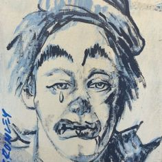 -David Bromley- 'Clown crying'
