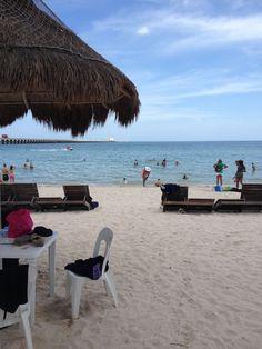 Sat on this very Beach! Progresso, Mexico!