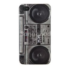 iPhone 4 4S Vintage Radio Cassette Tape Recorder Player Design Hard Case Cover Free Shipping!  - US$1.79