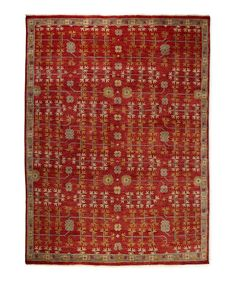 Springdale Rug, 10' x 14', Red/Tan/Gold - Neiman Marcus