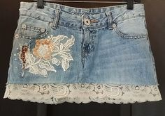 Hey, I found this really awesome Etsy listing at https://www.etsy.com/listing/198577263/beachy-bohemian-denim-mini-skirt