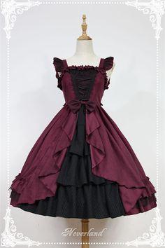 Dark Fairy Tale*** Gothic High Waist Woolen Lolita JSK Dress With Front Open Design