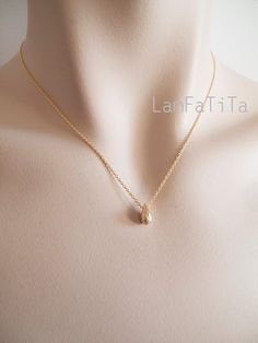 Tiny Gold Drop Necklace - Minimalist Necklace - Delicate Necklace - Gift for Her by LamFaTiTa on Etsy https://www.etsy.com/listing/184376816/tiny-gold-drop-necklace-minimalist
