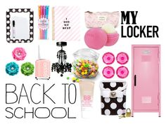 """BACK TO SCHOOL LOCKER DECOR"" by clairejagus ❤ liked on Polyvore featuring art, BackToSchool i lockerdecor"
