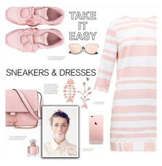 """""""Sporty Chic: Dresses and Sneakers"""" by soranamikaze ❤ liked on Polyvore featuring Ted Baker, Puma, Anja, Tory Burch and Guerlain"""