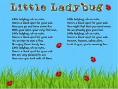 Classroom Freebies: Little Ladybug song