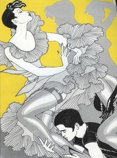 Illustration by Antonio Lopez (1943-1987), 1970's