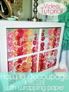 Awesome video tutorial. This dresser is amazing and it looks so easy! entirelyeventfulday.com #diy #dresser #decoupage