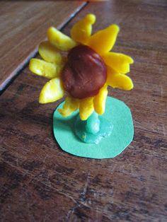 Zonnebloem van bijenwas