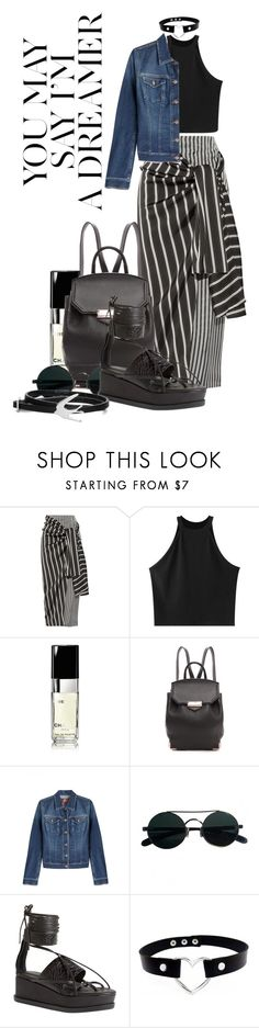 """""""Untitled #275"""" by tasa92 ❤ liked on Polyvore featuring Joseph, Chicnova Fashion, Nobis, Chanel, Alexander Wang, 7 For All Mankind, CÉLINE, Jeffrey Campbell and McQ by Alexander McQueen"""