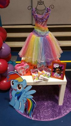 Rainbow My Little Pony birthday party! See more party ideas at CatchMyParty.com!