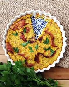 Bacon Turmeric Quiche - Grok Grub - Paleo Recipes and Living