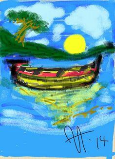 Barco Solitário.