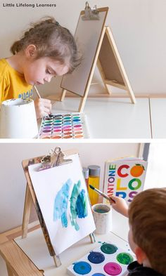 Our DIY Tabletop Art Easels - Little Lifelong Learners