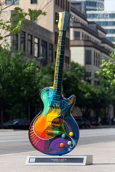 The downtown area has these huge guitar art pieces on several street corners. Guitar Art, Austin Texas, Public Art, Rock N Roll, Music Instruments, Cool Stuff, Guitars, Guitar Players, Places