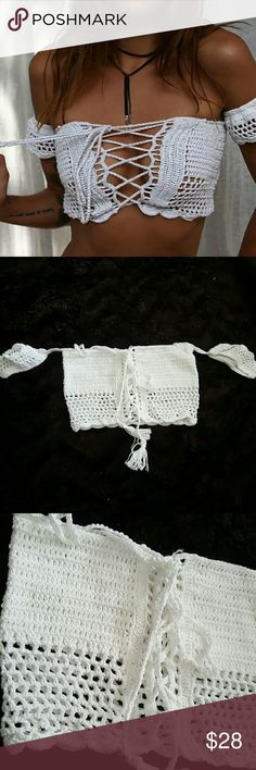 New Crochet Top Brand new without tags. Size small  Offers welcome! Tops Crop Tops