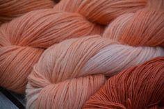Olann: alpaka cold dyed with madder