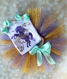 Unicorn Birthday Shirt Baby Girl Birthday by AdelineRoseBoutique