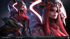 ArtStation - Galactic Frontline: Zoltarian Queen, Outsource 2 Us Character Concept, Character Art, Fantasy Art Warrior, Mystical World, Female Drawing, Fantasy Concept Art, Girls With Red Hair, Demon Girl, Cg Art