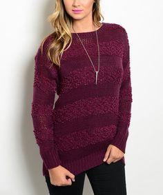 Love this Berry Stripe Sweater on #zulily! #zulilyfinds