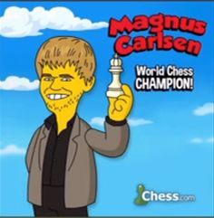 Magnus on Simpsons! Chess, Bart Simpson, Champion, Fictional Characters, Gingham, Fantasy Characters