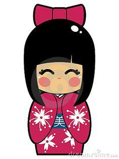 Japanese Doll Vector EPS by Beaniebeagle, via Dreamstime