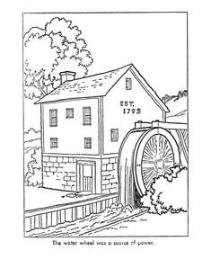 Early American Home Life Coloring Page Felicity
