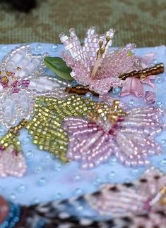 beautiful 3-D beaded needlework