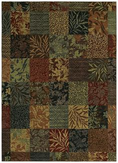 "Area Rug in the Tommy Bahama Home Collection in style ""Batik Leaf"" - by Shaw Floors"